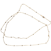 Diamond By The Yard 14 Karat Rose Gold Necklace