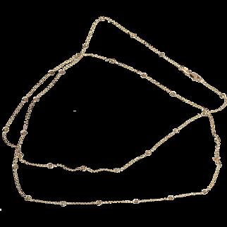 Diamond By The Yard 14 Karat Rose Gold Necklace
