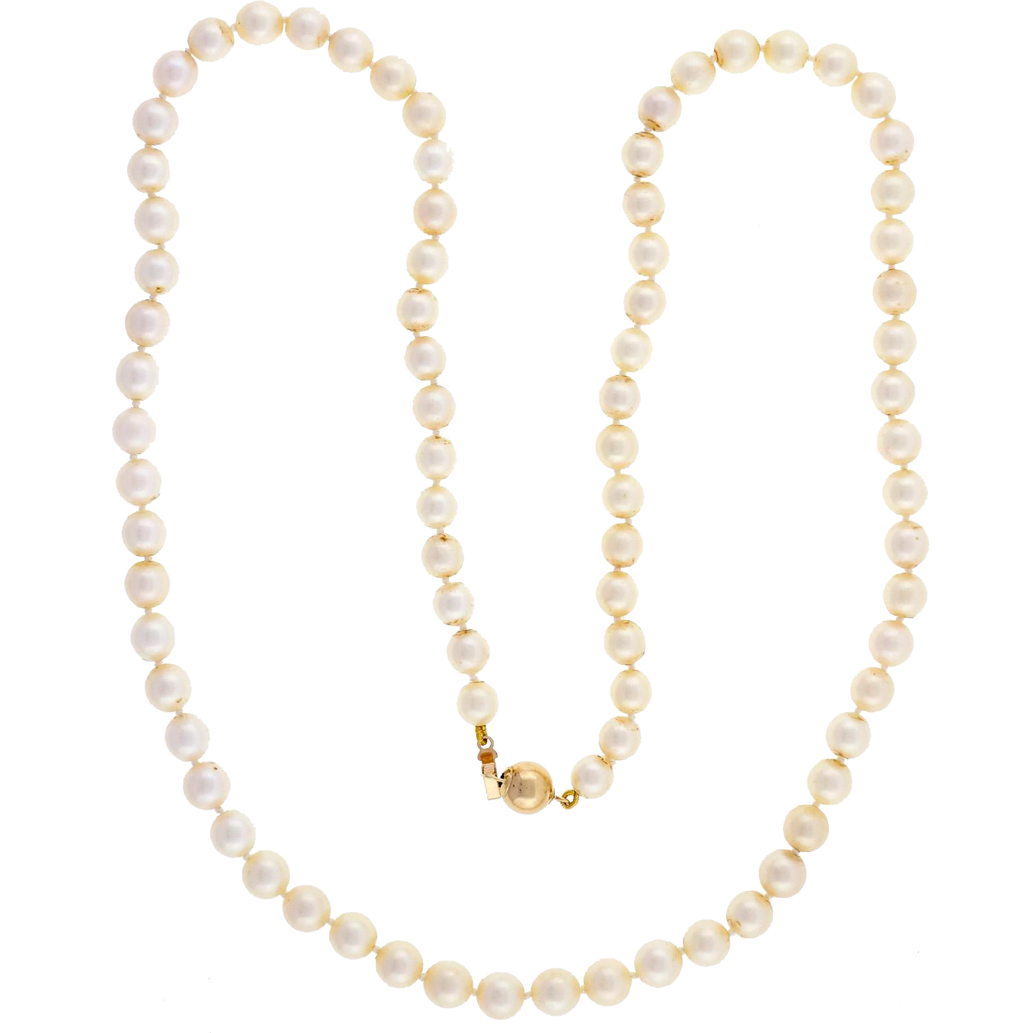 Japanese Cultured Pearl 14 Karat Gold Necklace Bracelet