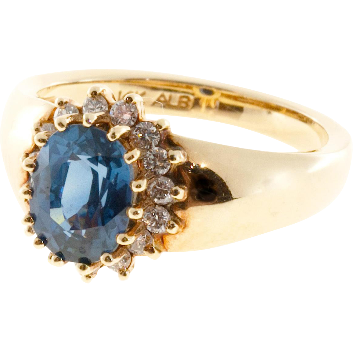 Oval Ceylon Sapphire Diamond Engagement Ring