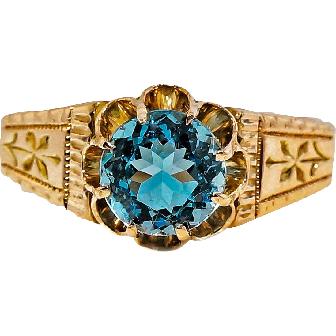 Aquamarine 14 Karat Rose Gold Ring