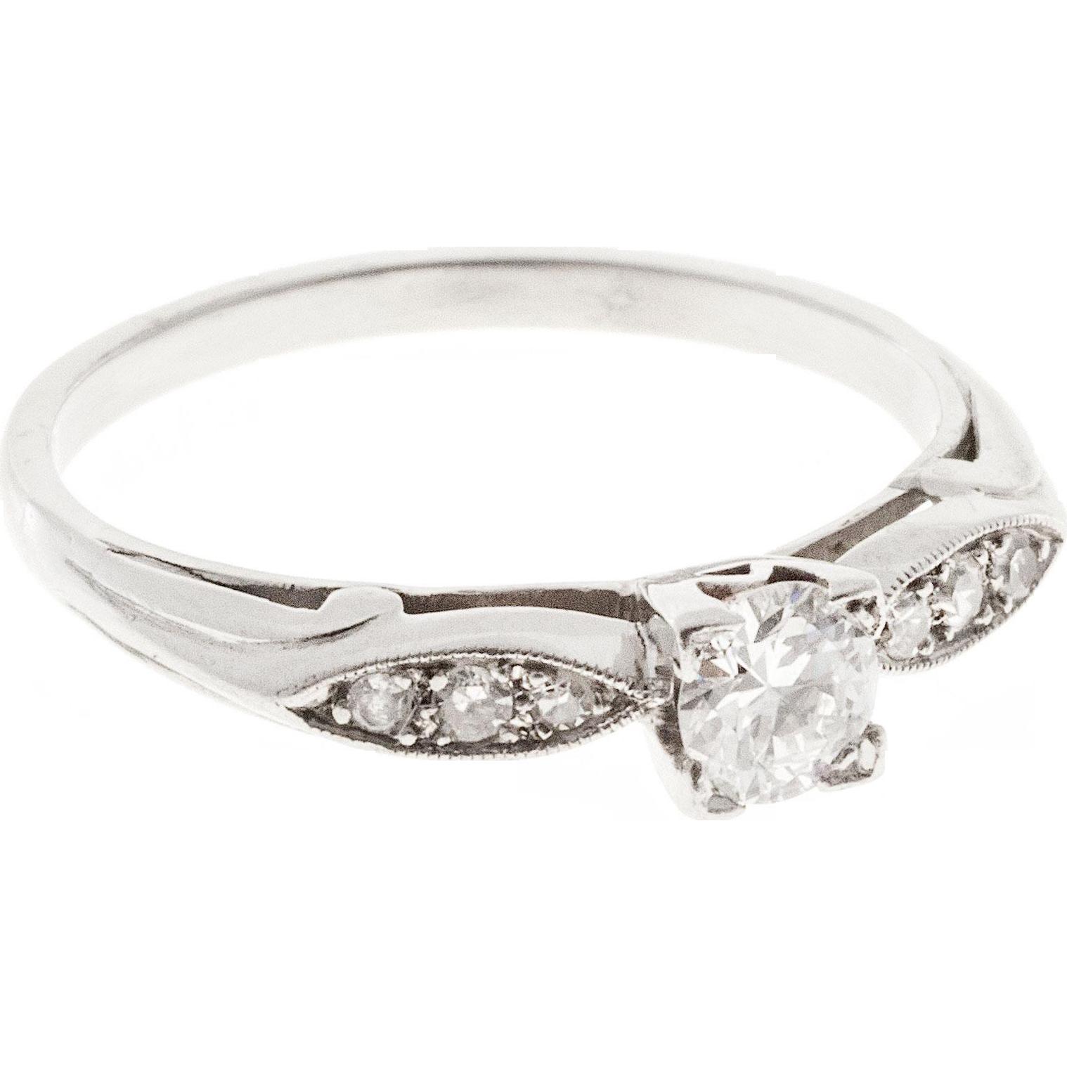 .26ct Diamond Platinum Art Deco Engagement Ring