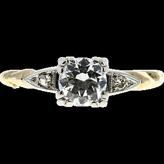 .56 Carat Diamond 14 Karat Yellow White Gold Engagement Ring