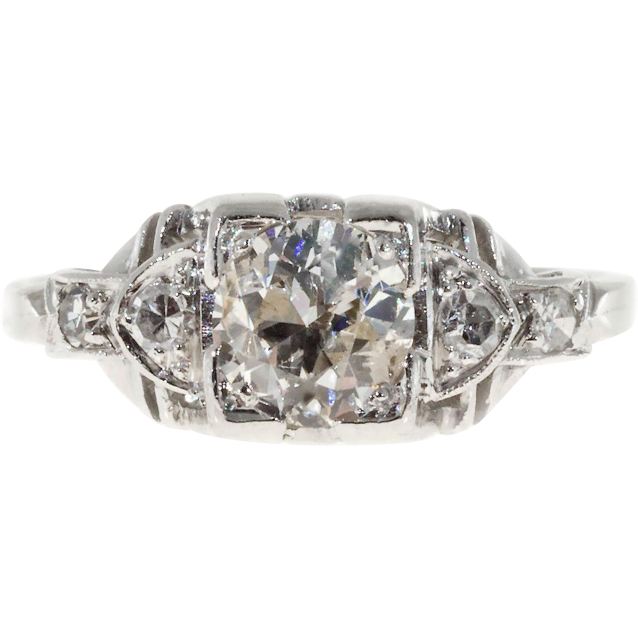 Art Deco .65ct Diamond Platinum Engagement Ring