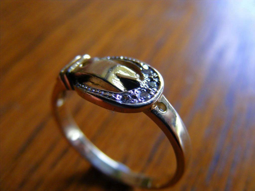 Vintage Buckle Bead Set Diamond Ring