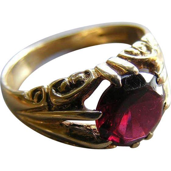 Vintage Garnet Ring with Full British Hallmarks