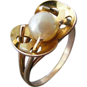 Arts and Crafts Stylized Waterlily Ring
