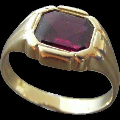 Men's Vintage Ring Deco Era French