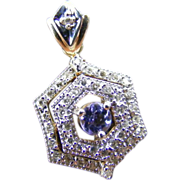 Edwardian Diamond and Violet/ Pink Beryl Pendant
