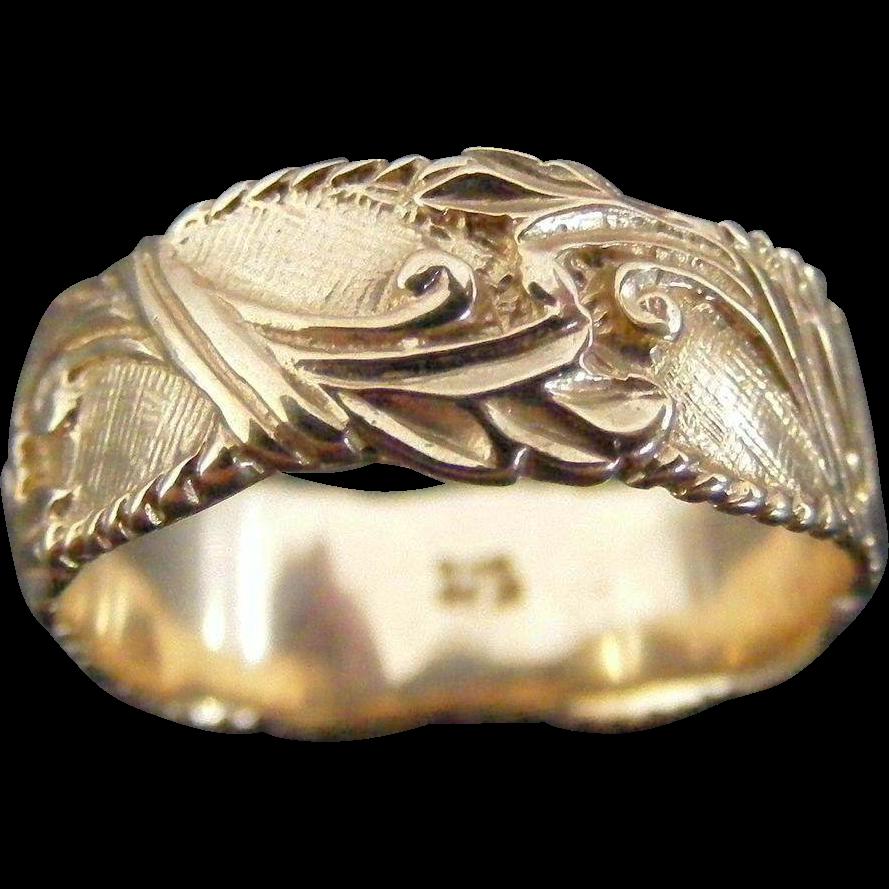 Vintage Mid Century Foliate Ring