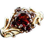 Antique Garnet Cluster Ring