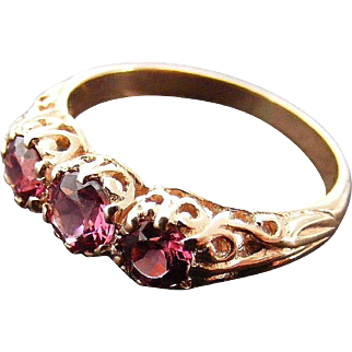 Vintage Pink Tourmaline and 9 k Pink/ Rose Gold Ring