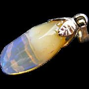 Vintage Free Form Jelly Crystal Opal Pendant