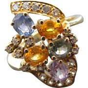 Vintage Multi Sapphire Dress Ring