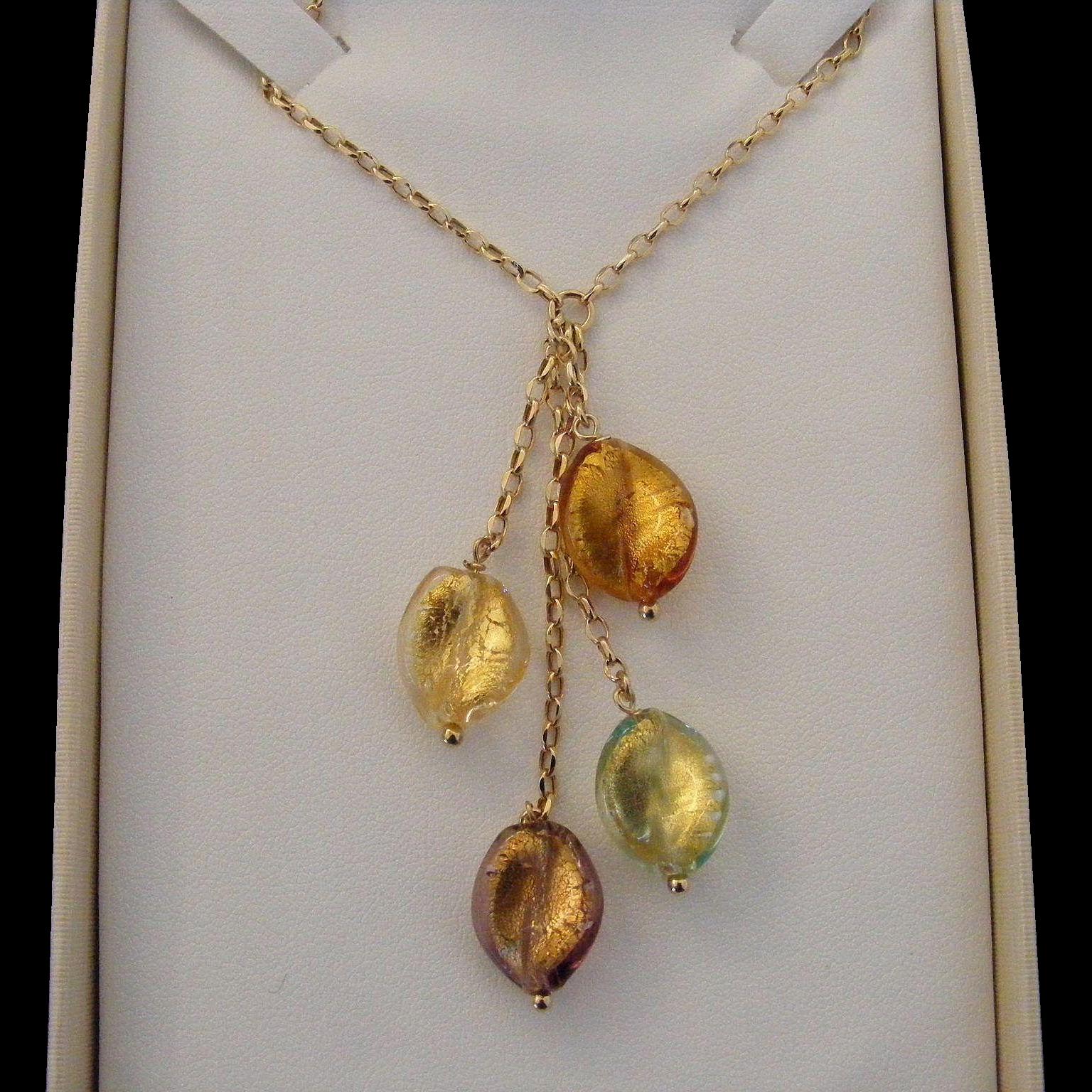 Vintage Pate De Verre Necklace