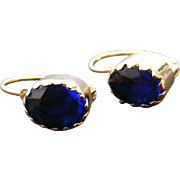 Victorian French Blue Paste Earrings