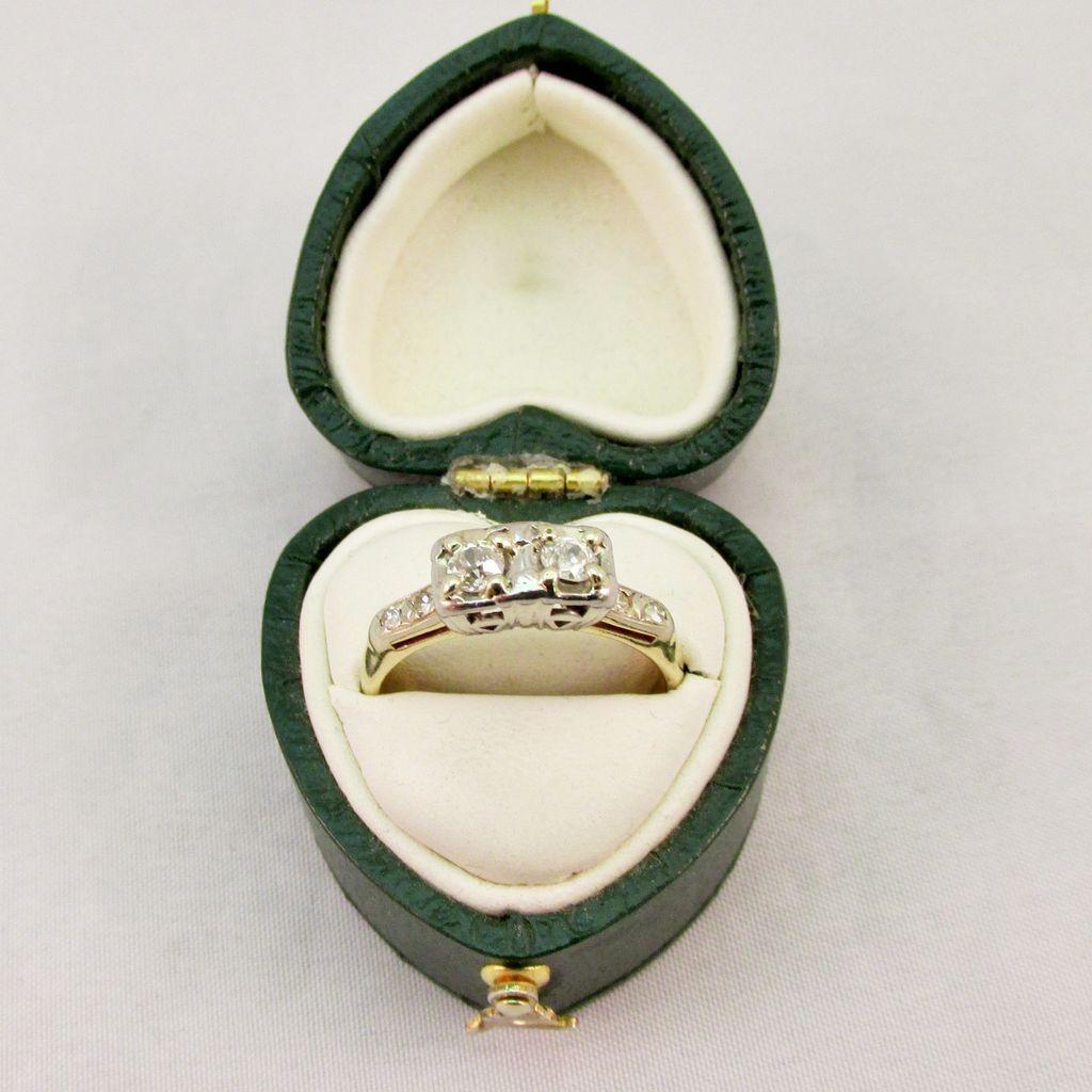 Vintage Double Diamond Ring