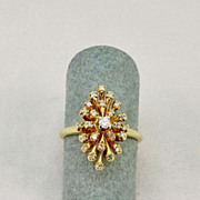 Ladies Vintage Starburst Diamond Ring