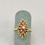 Ladies Vintage Starburst Diamond Ring