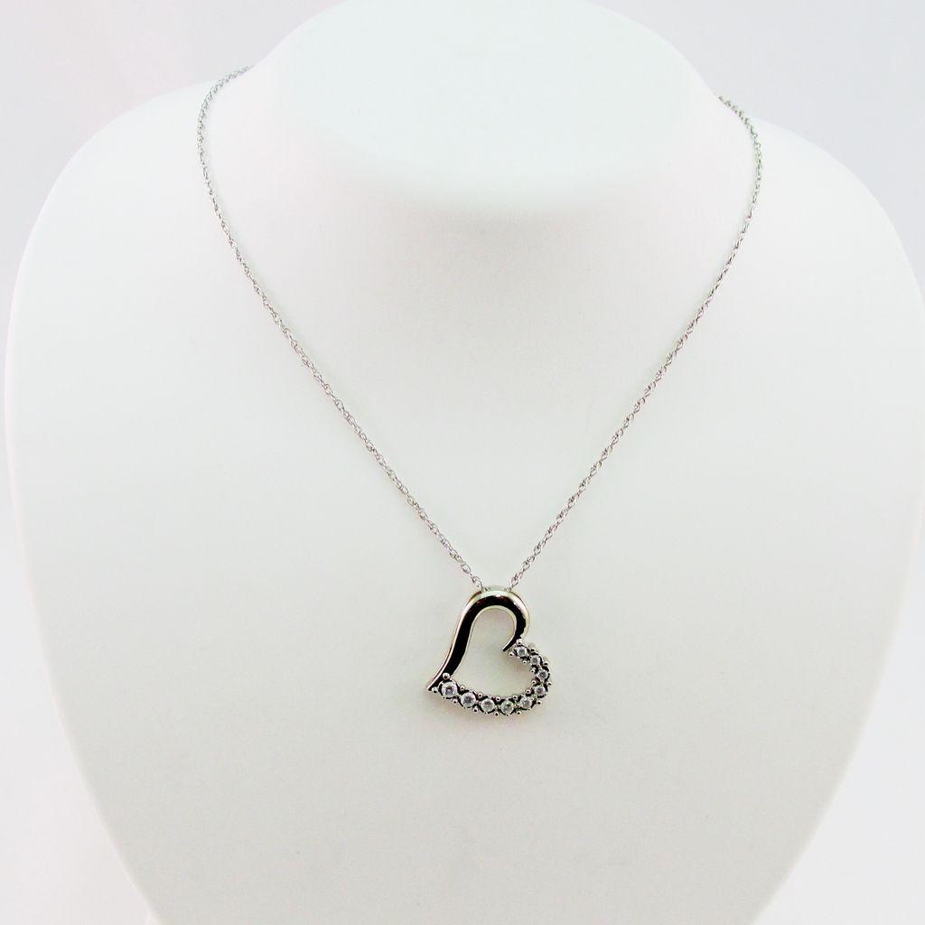 Floating Heart Diamond Pendant From Warejewelry On Ruby Lane