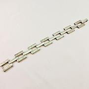 Vintage Silver Flexible Link Bracelet