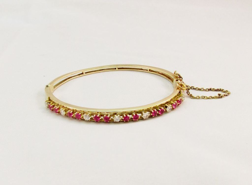 Vintage Fine Diamond and Ruby Bracelet