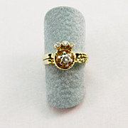 Ladies Diamond Double RIng