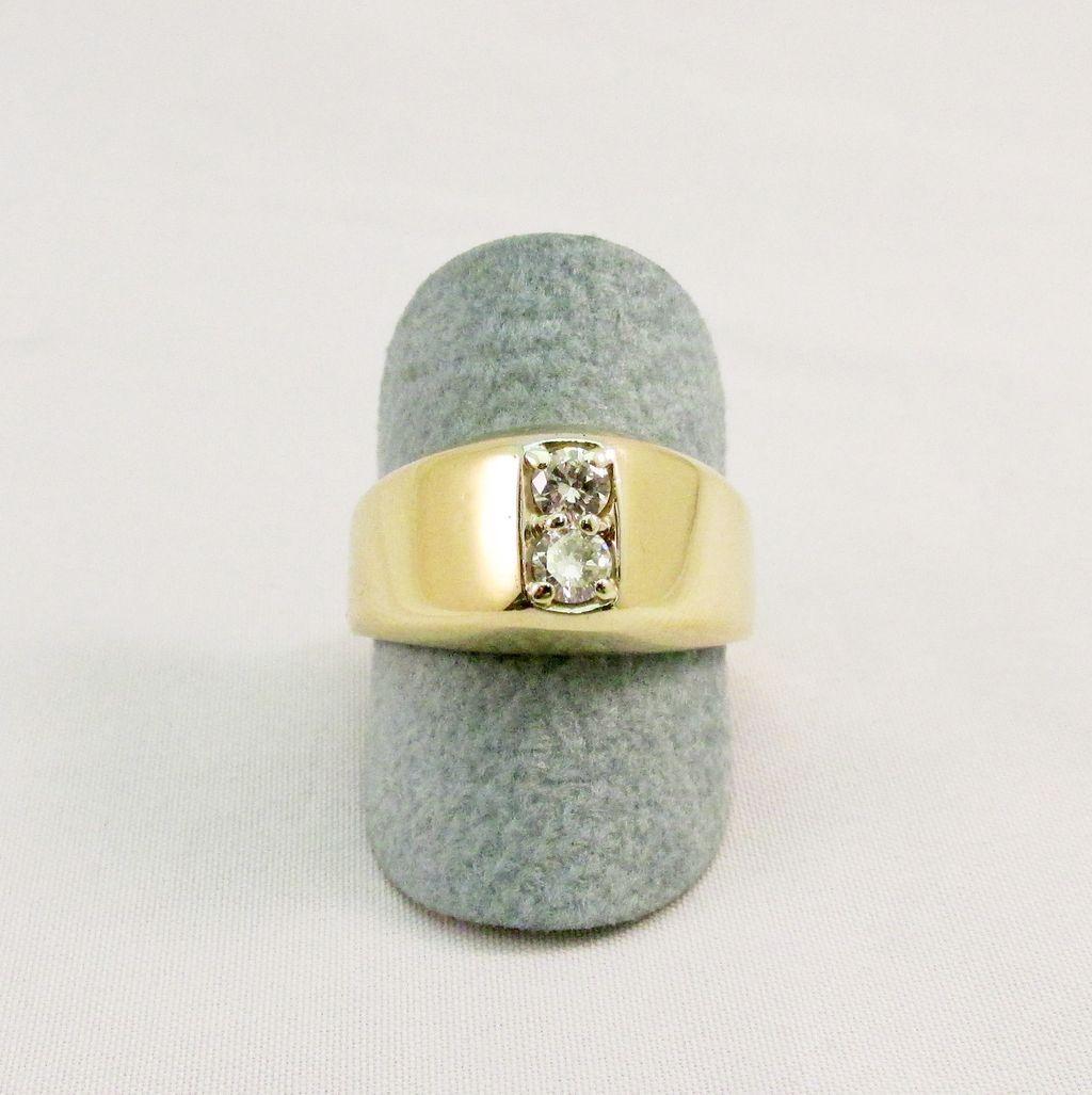 Vintage Men's Double Diamond Ring