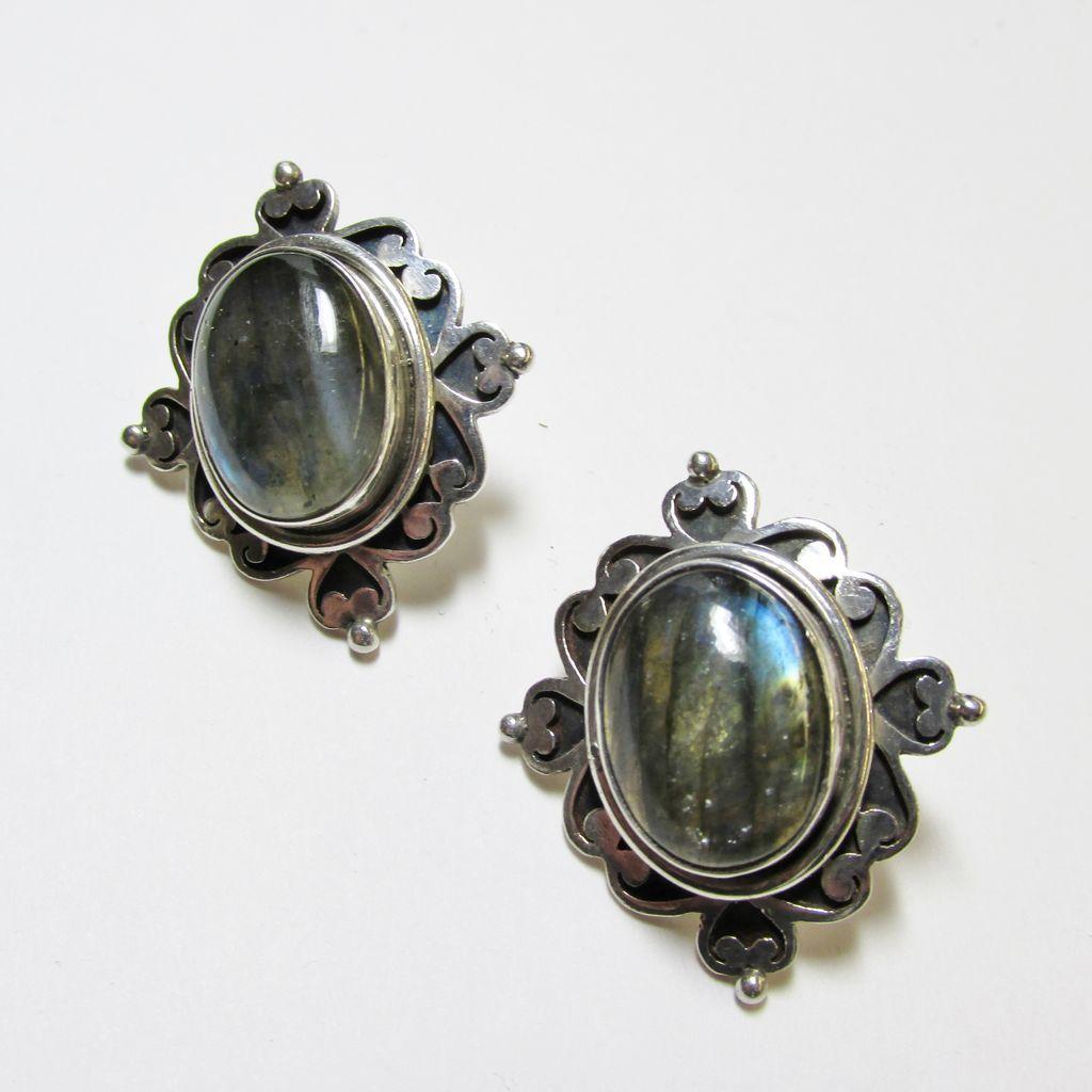 Nepalese Labradorite Earrings