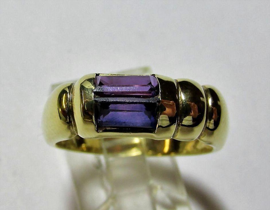 Estate 18K Ladies Gold Amethyst Ring