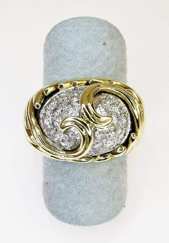Estate Ladies Diamond Dome Ring