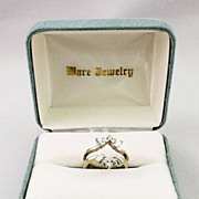 Ladies White Gold Diamond Double Wrap Ring