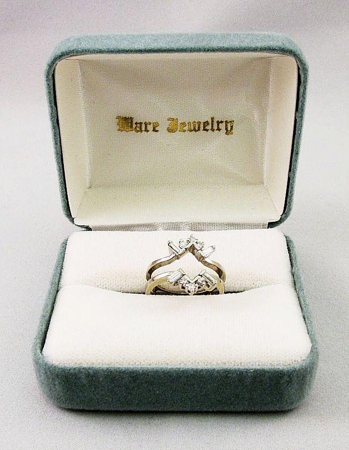 Ladies White Gold Diamond Double Wrap Ring