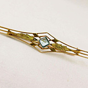 Vintage Blue Topaz Pin