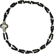 Natural Crazy Agate Double Strand Necklace/Botswana Agate/Sterling Silver