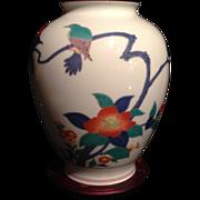 Japanese Vintage Koransha 香蘭社 Porcelain Bulbous Vase