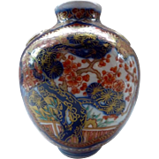 Important Japanese Antique Hizen Vase from the Aoki Imari Family Kiln