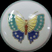 A Japanese Vintage Porcelain Kyoto-Ware Kogo or Box by Famous Artist Tamayai Kosai 湖西