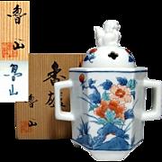 Fine Japanese Arita- Kakiemon 柿右衛門 Porcelain Koro or Incense Burner