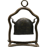Japanese Antique 1880's Copper and Iron Bronze Hanging Temple Bell, Bonshō 梵鐘 and Tsuriganen  釣り鐘