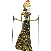 Indonesian Vintage Java Shadow Puppet Doll for Wayang Kulit