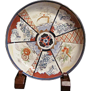 Japanese Antique 18th c ko-Imari 伊万里 Porcelain Large Deep Bowl or Ozara Fuka Zara