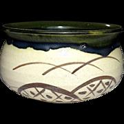 Japanese Vintage Oribe Ware 織部焼  Kensui by Master Potter Sasaki Tadashi- Kato