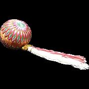Japanese VIntage Folk Art Toy Temari Ball  手まり New Tear Tradition