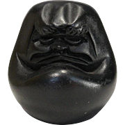 Japanese Nachi Black Stone 那智黒のだるま Ornament of Daruma