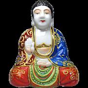 Japanese Vintage Moriage Porcelain Ornament or Statue of a Female Amida Buddha