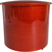 Japanese Contemporary Hida Shunkei Lacquerware Wooden Mizusashi or Cold Water Container - Red Tag Sale Item
