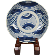 Japanese Antique Edo ko-Imari 伊万里 Blue and White Porcelain Namasu Bowl or Plate