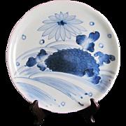 Japanese Edo Period ko-Imari Large Porcelain Sometsuke Platter