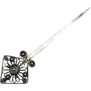 Chinese Vintage Silver Hairpin, Kanzashi or Yín Zān 銀簪
